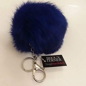 Real Fur ball keychain
